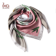 Hot Sale Istanbul Sex Muslim Square Plain Printed Silk Satin Hijabs Scarf