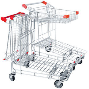 Heavy duty push trolley logistic cart