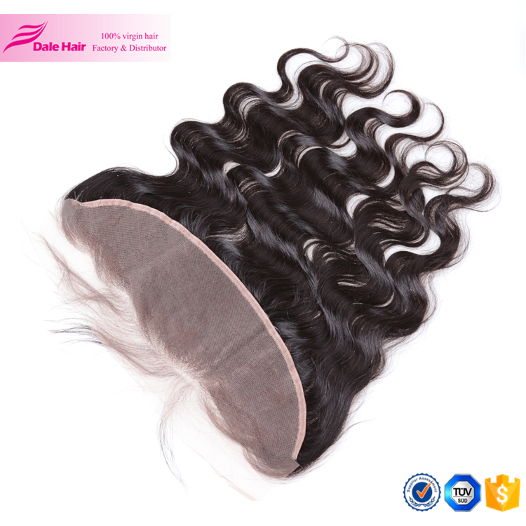 100% Virgin brazilian human hair no tangle and no shedding 13*4 lace frontal <strong>thick</strong> for no track hair extensions frontal