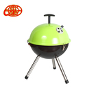 14 inch green ball shaped enameled fire bowl charcoal bbq grill