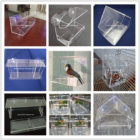 OEM and ODM china manufacturer clear acrylic window bird feeder