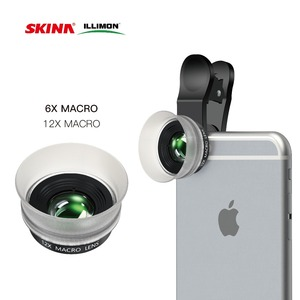 High quality 3 in 1 mobile phone camera lens 6x+12x+18x macro lens for galaxy note 3/nikon/table PC optical lens