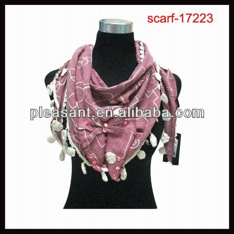 hot sale large bowknot scarves with sequins
