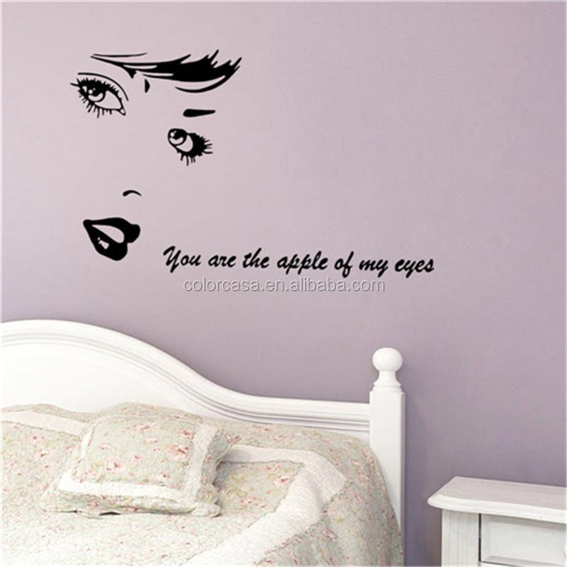 Colorcasa Audrey Hepburn Vinyl Wandaufkleber Sie Sind Die Apple Meines Augen Wandtattoo Aufkleber Removable Wohnzimmer Decor 8467