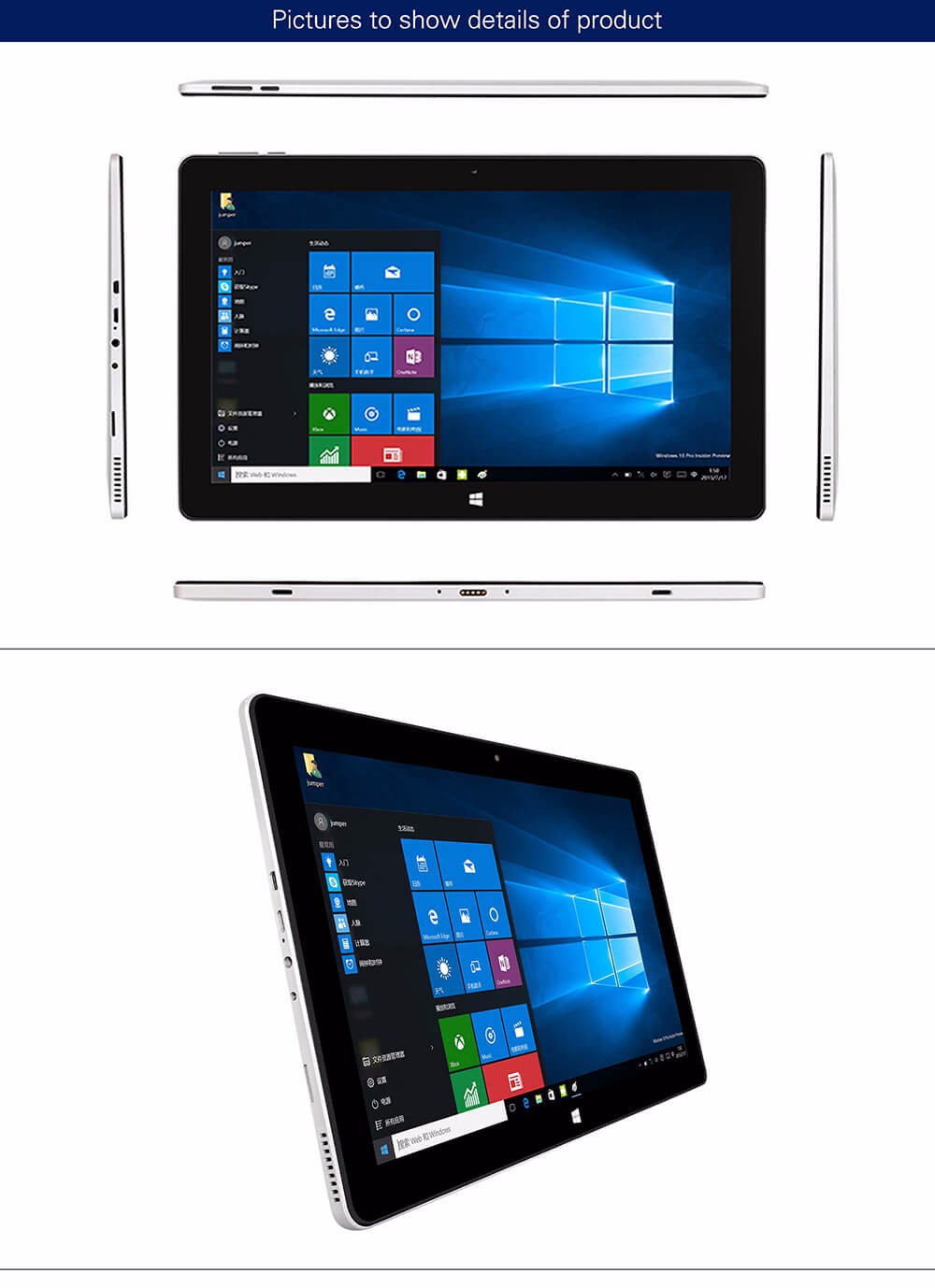 Jumper EZpad 6 tablet PC 11.6'' Windows10 IPS 1920 x 1080 Intel Cherry Trail Z8350 4GB 64GB HDMIBT WiFi windows10 tablet laptop