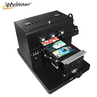 JETVINNER 2019 Cheapest With Laptop Manual A4 UV Flatbed Printer+(30cm*16cm) Printing Size Phone Cover Printing Machine A4 UV