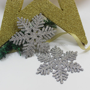 personalized silver glitter snowflake christmas ornaments