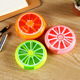 Pill box backpack 7 grid round rotating fruit portable mini round fructose pill container