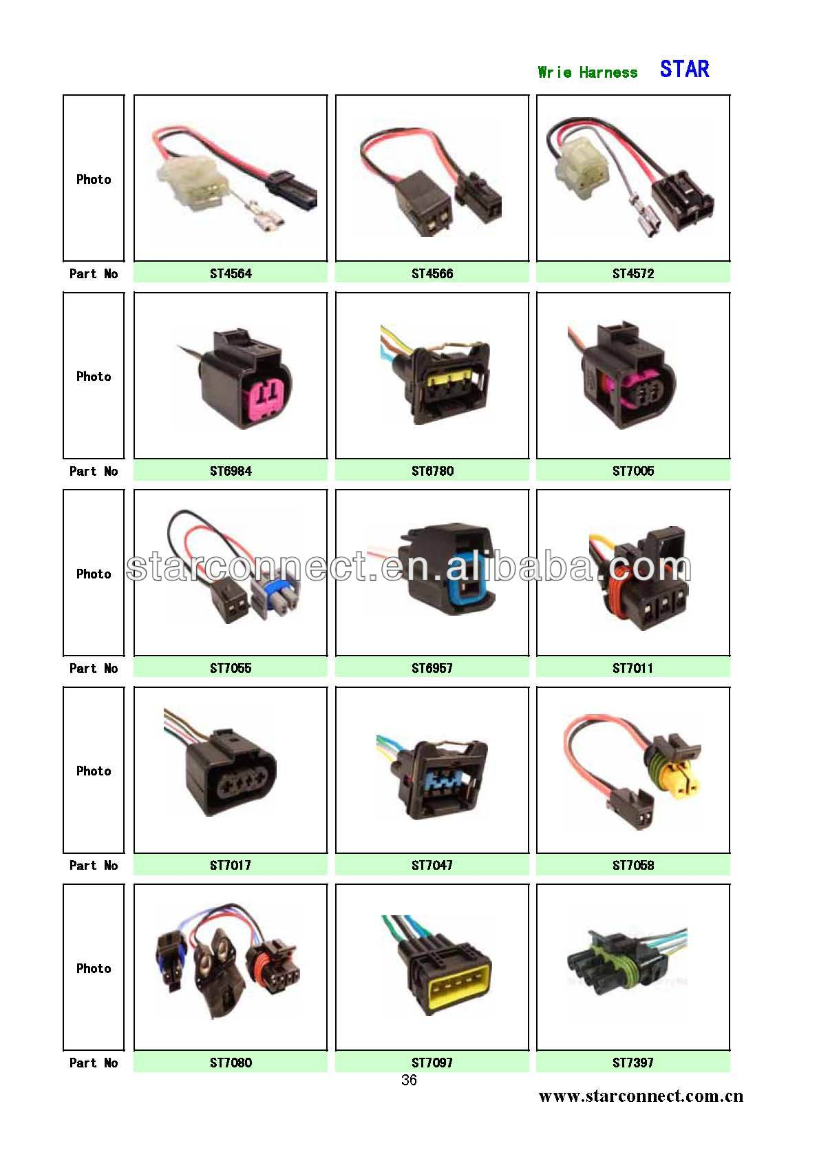 Customized car auto wiring harness cable assembly