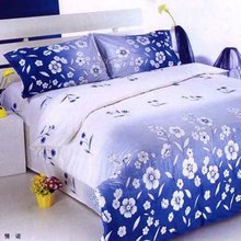 100% cotton linen printed bed sheet with towel