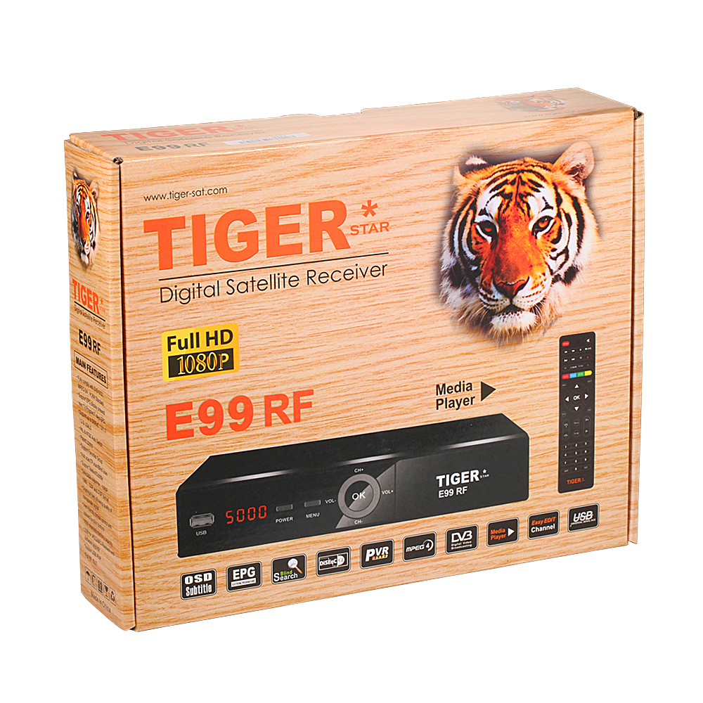 High QualityTiger <strong>HD</strong> Recevier E99 RF Set Up Box Support <strong>FTA</strong>