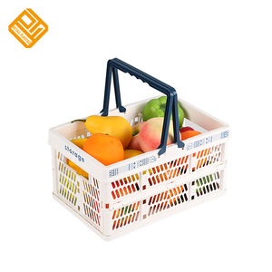 Promotion customized logo collapsible shopping basket