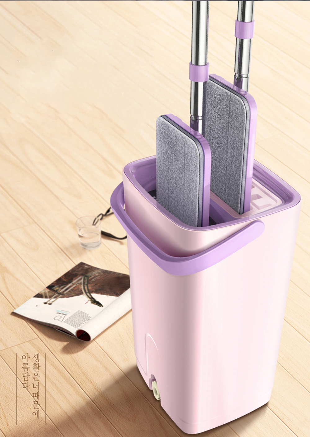 Flexible Cleaning Floor Microfiber Flat Mop
