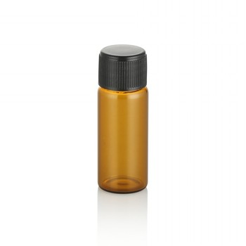 cosmetic packaging tube 5ml 8ml 10ml  amber glass tube essential oil bottle with screw cap