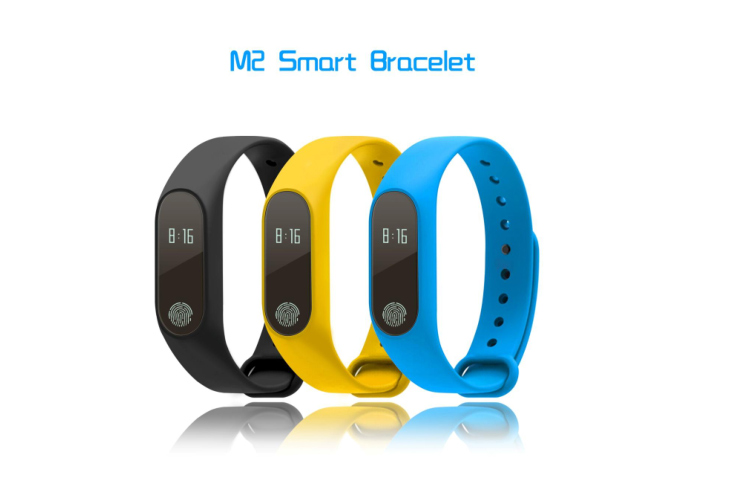 2018 New Product Sports Healthy Bracelet Heart Rate Step Pedmometer, Call Alert M2 Smart Band