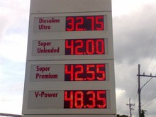 2012 hot gas station price signs for sale mini 7 segment led display