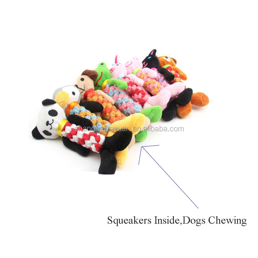 Nieuwe Dieren Vorm Ontwerpen Pluche Sound Dog Toys Pet Puppy Chew Piepende Pluche Sound Eend Varken Olifant Speelgoed