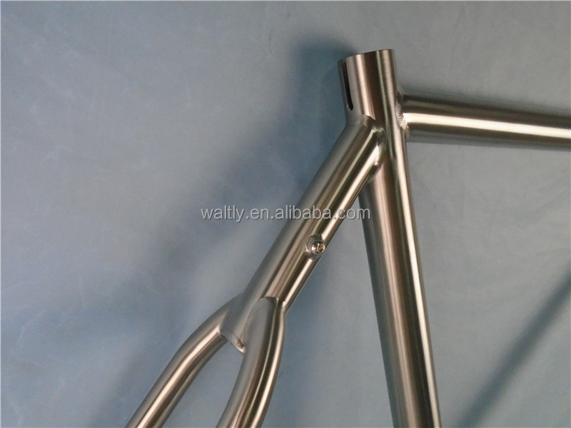Wish bone Touring 700C titanium alloy frame with fender and rack