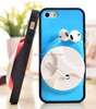 2014 Unique plastic phone case high quality cell phone case with earphone holder for iPhone 6