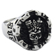 Custom Casting Hot sale Halloween Gothic Punk Arrogance Cool men Ghost Evil Demon Death Skull Head Finger Rings