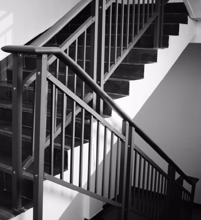 Yekalon Free Sample Zinc Steel Staircase Railing Handrail