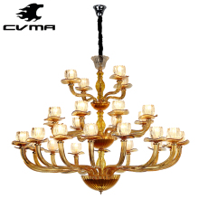 tea color Glass Chandelier,Traditional Style Home Light 6074