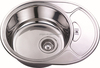 stainless steel kitchen sink with drainer