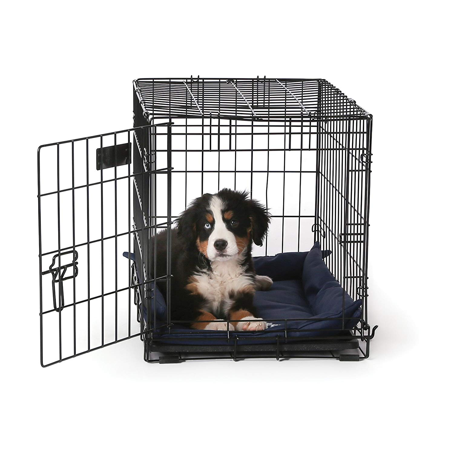 "K&H Pet Products K-9 Ruff n' Tuff Crate Pad Small Navy Blue (20"" x 25"") - 1260 Denier Rip-Stop Polyester for Pets That Need Extra Tough Fabric"