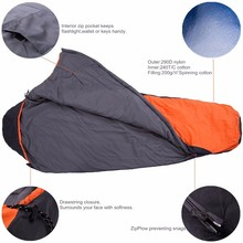 Sleeping Bag - Envelope and Mummy Lightweight Portable Waterproof Comfort With Compression Sack