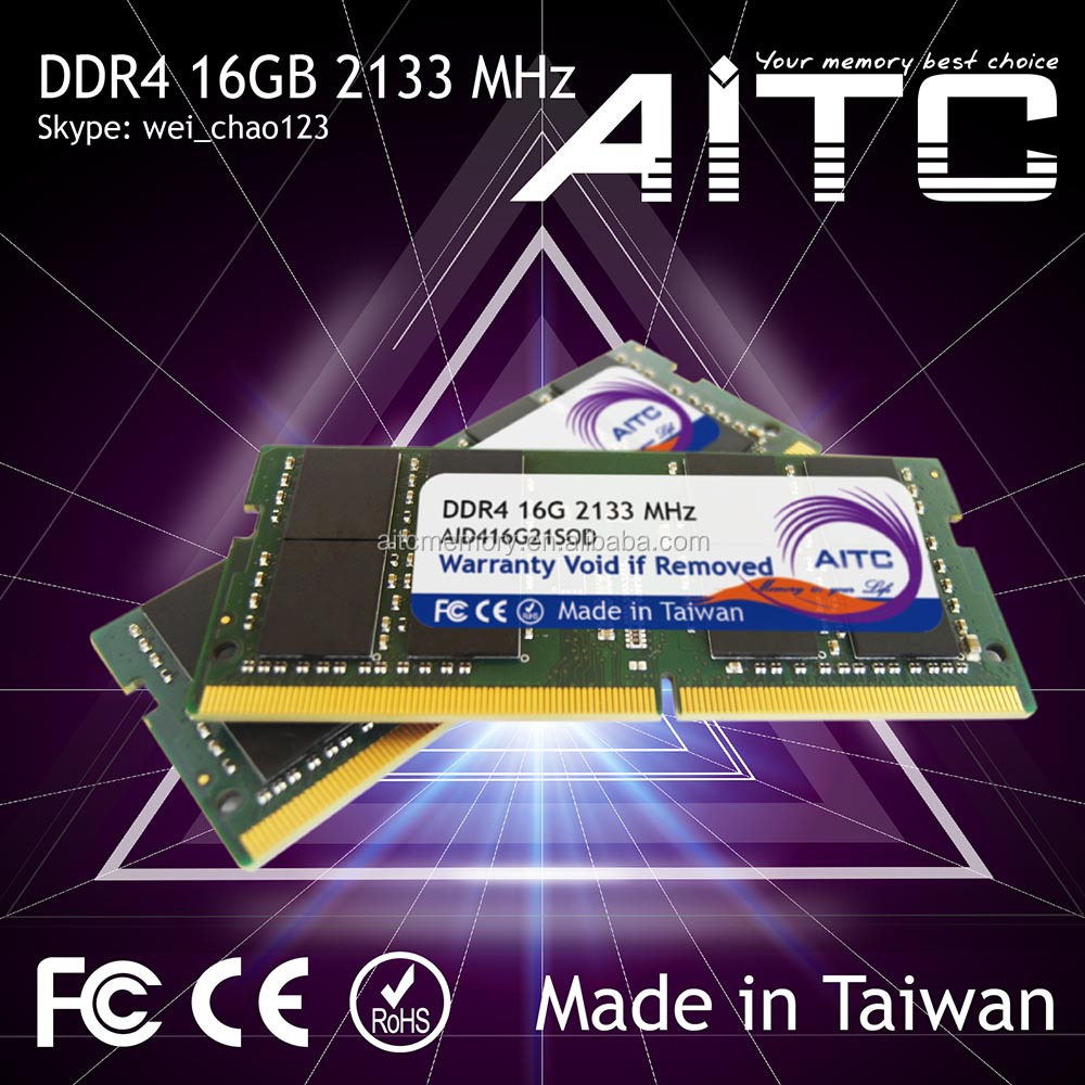 Best selling AITC ddr4 motherboard 2133mhz 4gb for laptop memory ram