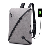 new fashion USB charger slim cool school backpack for college student