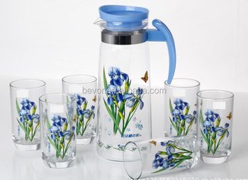 Drinking Water Glass Set 7pcs