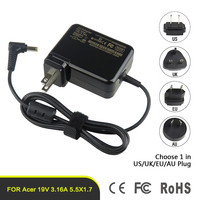 Wholesale Universal Laptop Adapter EU UK US AU Plug Power Charger For Acer 19V 3.16A