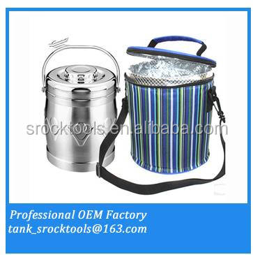 Straight drum lunch bag ice pack cooler bag