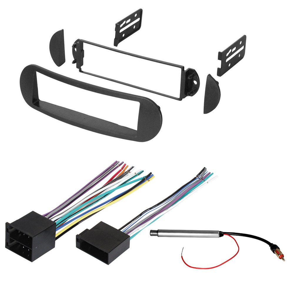 Get Quotations · CAR STEREO RADIO DASH INSTALLATION MOUNTING KIT W/ WIRING  HARNESS AND RADIO ANTENNA ADAPTER FOR