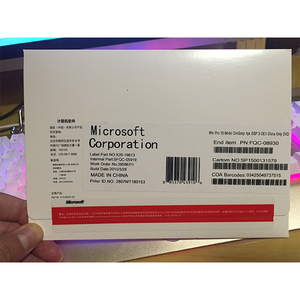 Hot sale and original microsoft windows 10 pro oem key software operating system