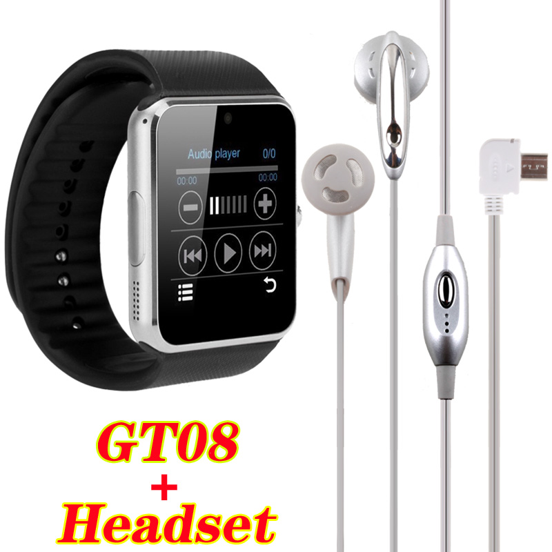 2016 Smart Watch GT08 Clock Sync Notifier With Sim Card Bluetooth Connectivity