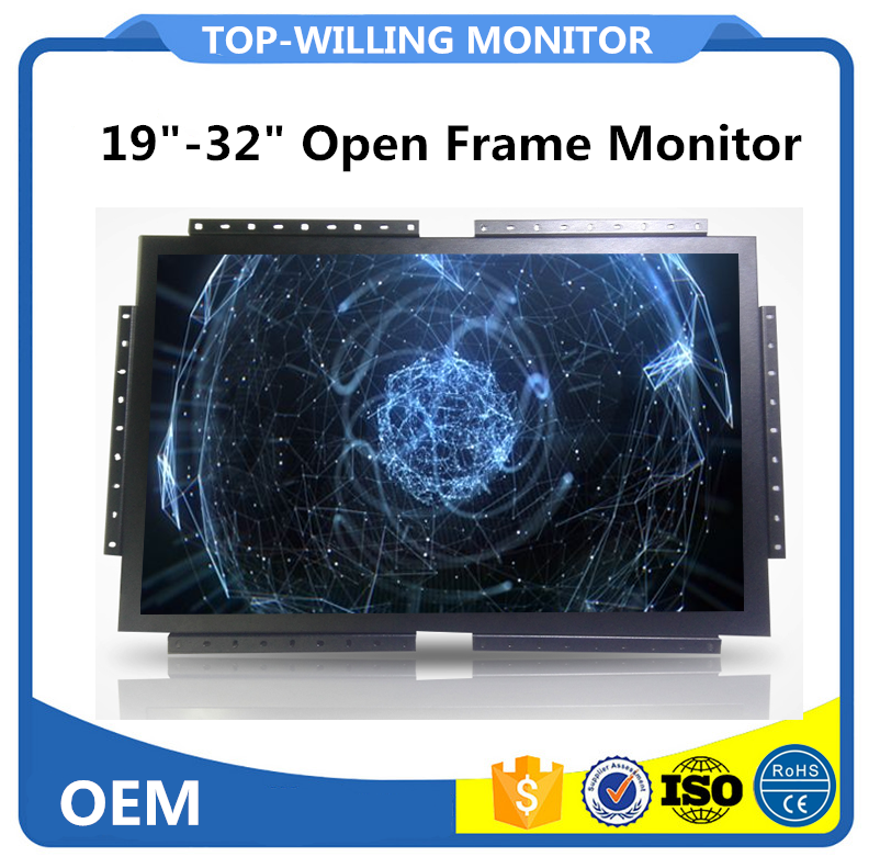 Open Frame Type Monitor 24 inch PCAP Capcitive Touch Screen Industrial Monitor