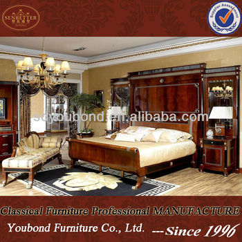 0010 Italian Design Wooden Royal Luxury Bedroom Sets Furniture