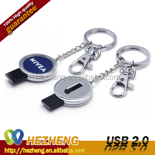 Custom Laser engraved Logo round shape pull and push USB Pendrive 8GB