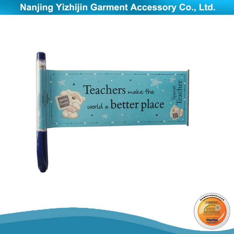 Custom Design Promotional Banner Pen with Roll Out Paper