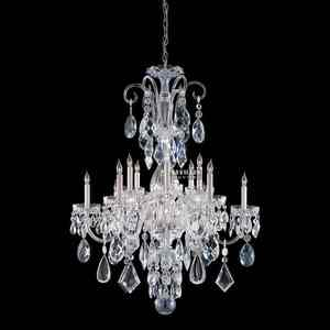 Guangzhou chic 12 light chrome CE chandelier wholesale