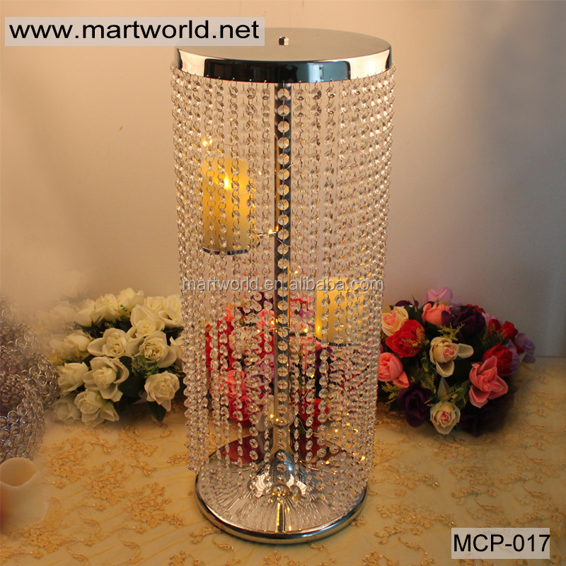 2018 Hanging Crystal Centerpieceding Table Decoration For