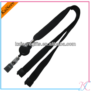 lanyard neck strap with bull dog clip