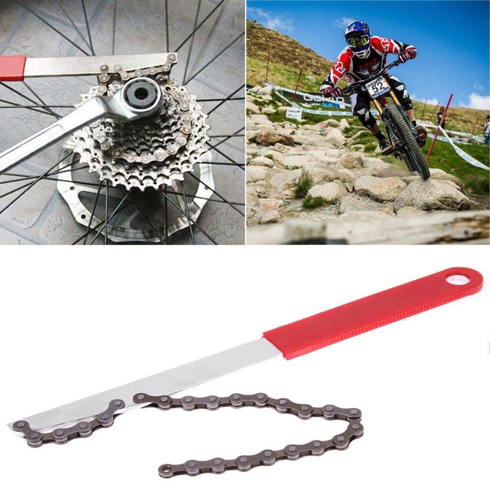 Bicycle Bike Cycling HG Freewheel COG Remover Chain Whip w//Socket Spanner