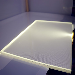 Acrylic LGP PMMA Sheet Light Guide Plate As Advertisement