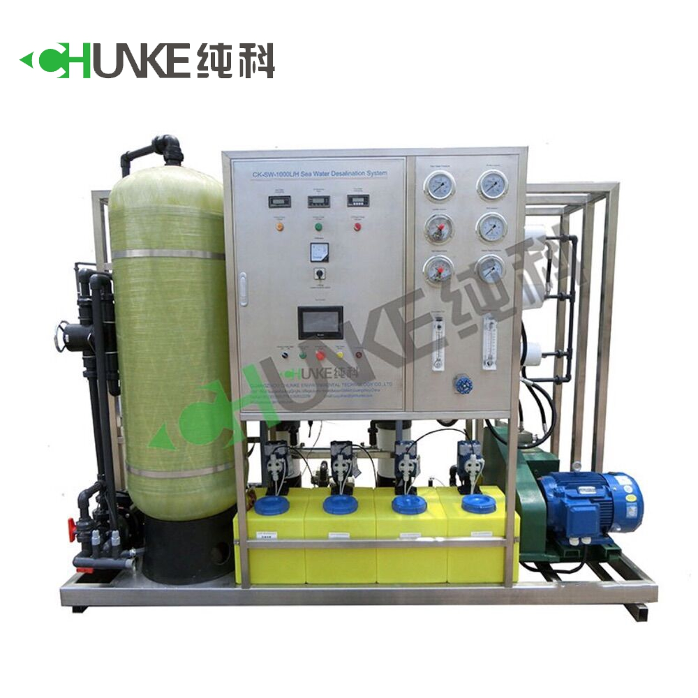 CK-SW-500L/H RO Seawater Desalination Plant low power consumption, high desalination rate and high stability