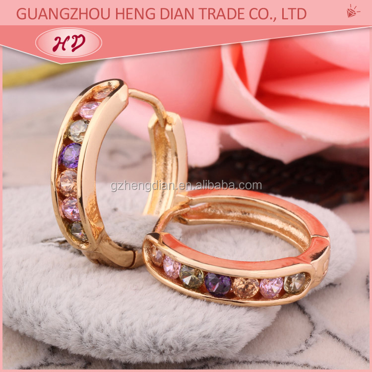 2015 new model latest simple gold earring designs for women, View ...