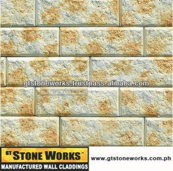 Wall Bricks - Flat Hammer Bricks Willow - Cement Bricks For Interior ...