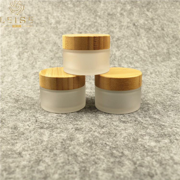 30ml 50ml 100ml bamboo wooden cosmetic jars plastic cream bottle with bamboo lid wooden cap custom made cosmetic plastic jars